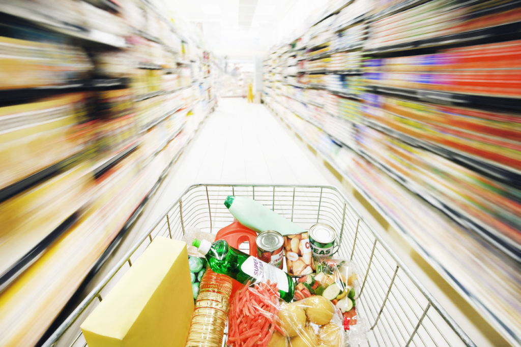 Speed seriously blurs supermarket shelves