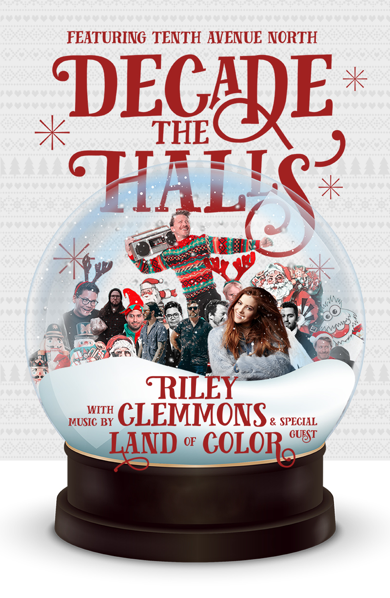 Tenth Avenue North's Decade the Halls Tour Poster