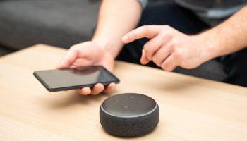 A smart speaker and smartphone